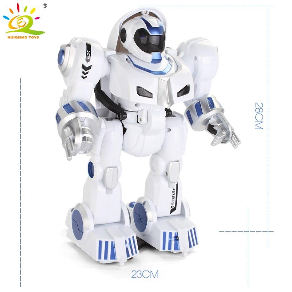 Huiqibao brinquedos de deformação inteligente rc robô com dança música controle remoto eletrônico inteligente brinquedos para crianças presente aniversário - 6