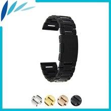 цена на Stainless Steel Watch Band 20mm 22mm 24mm for Movado Strap Wrist Loop Belt Bracelet Black Rose Gold Silver + Spring Bar +Tool