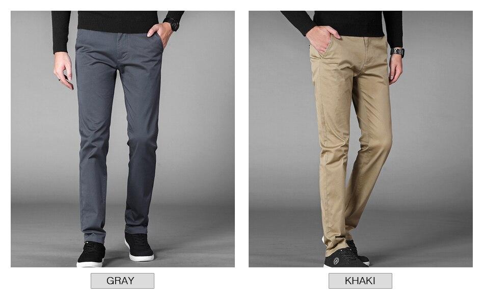 HTB1thctajzuK1RjSspeq6ziHVXaP 4 Colors Casual Pants Men Classic Style 2019 New Business Elastic Cotton Slim Fit Trousers Male Gray Khaki Plus Size 42 44 46