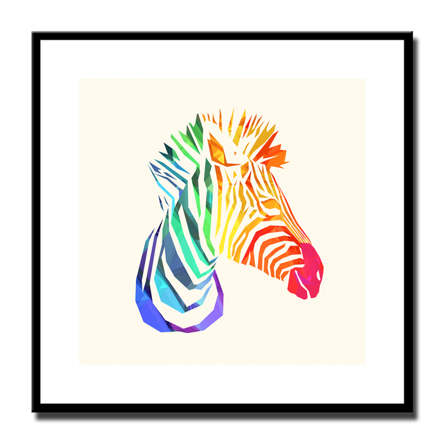 Colorful zebra canvas art best canvas 2018 colorful zebras large watercolor art canvas print altavistaventures Gallery