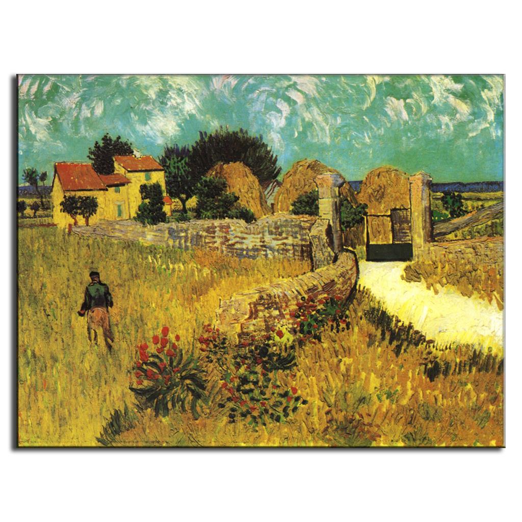 1 PCS Van Gogh Painting Prints on Canvas Landscape Golden wheat ... for Wheat Farm Painting  174mzq