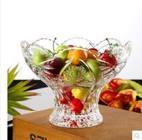 Modern fashionable crystal glass fruit dish european style family room candy basin
