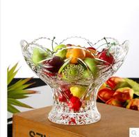 Modern fashionable crystal glass fruit dish european style family room candy basin