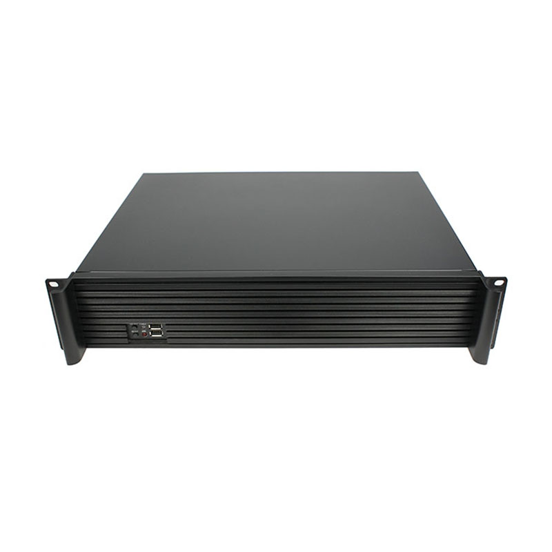 2U Computer case  mount aluminum panel 2u350MM Support MicroATX PC power supply  firewall 19 inch rack type Chassis new at 23650 2u rack server computer case 6 hard drive 2u pc power supply