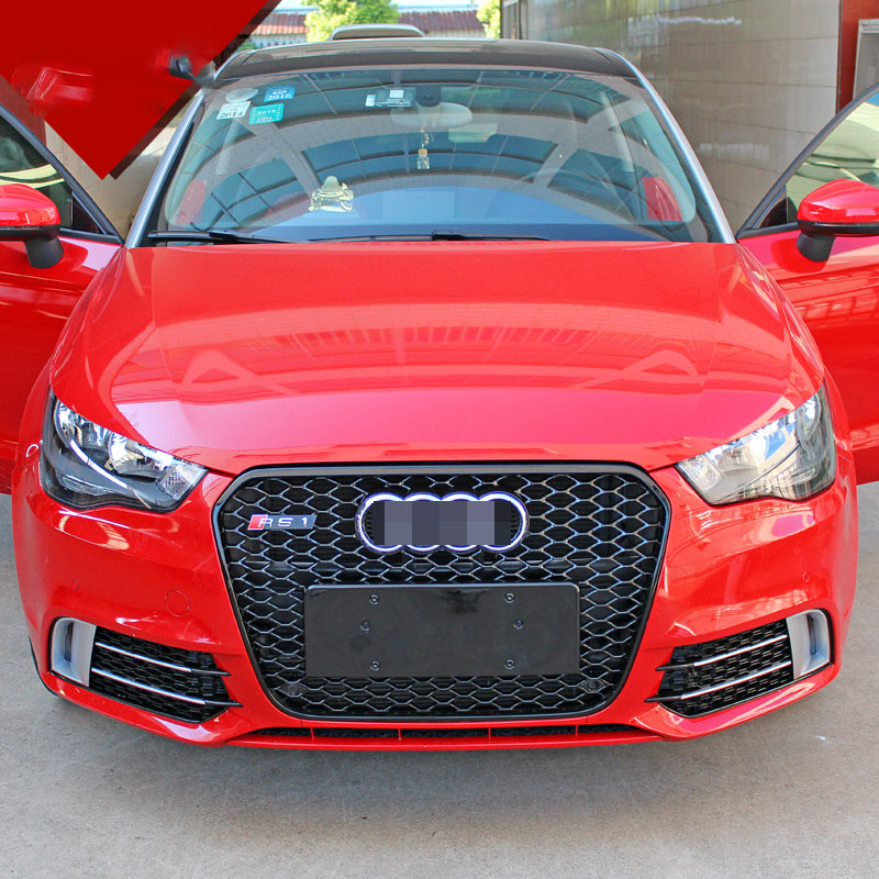 Us 84 23 24 Off Rs1 Style Silver Front Fog Lamp Mask Grill Cover For Audi A1 Non Sline 2011 2014 In Racing Grills From Automobiles Motorcycles On
