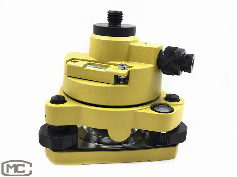 NEW YELLOW TRIBRACH ADAPTER WITH OPTICAL PLUMMET FOR PRISM SET