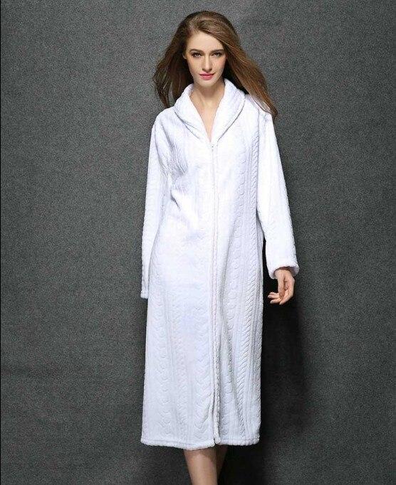 Peignoir avec fermeture clair achetez des lots petit - Robe de chambre fermeture eclair femme ...