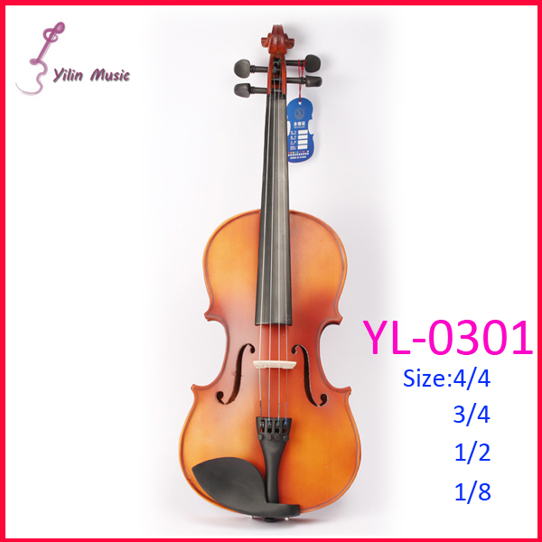 Yilin Solid Wood Violin with Size 1/4 3/4 4/4 1/2 1/8 Violin Sent with Bow Rosin and Case free shipping 4 4 size 430c pernambuco cello bow high quality ebony frog with shield pattern white hair violin parts accessories