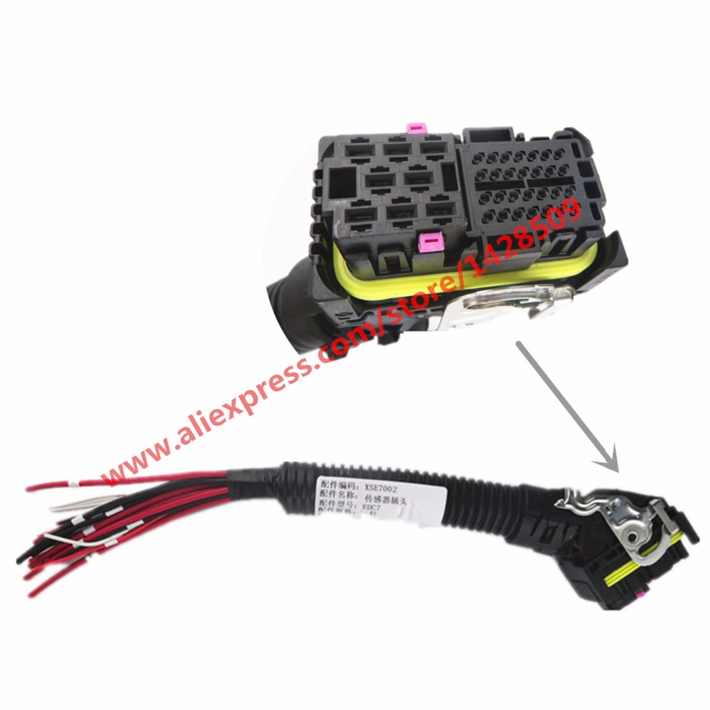 36 Pin Way EDC7 ECU Connector Automotive Wiring Harness Socket Truck Sensor Plug For Bosch