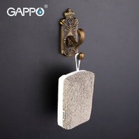 GAPPO 1 Set High Quality Zinc Alloy Robe Hook Wall Mount Bathroom Accessories Clothes Hook Retro