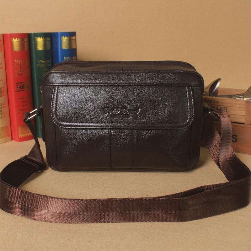 New style  genuine Leather bag business casual shoulder bag man Satchel Bag Leather  Korean men cross tide  #179 casual canvas satchel men sling bag