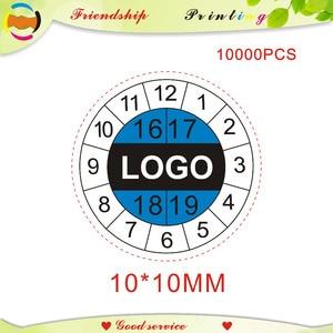 Image 1 - Дизайн и бесплатная доставка, этикетки из неустойчивой бумаги, гарантийные наклейки, этикетки с временным переводом, этикетки на заказ 10*10 мм