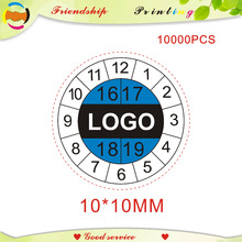 Etiquetas de papel fragilidade de design e frete grátis, etiquetas de tempo etiqueta etiqueta personalizada 10*10mm
