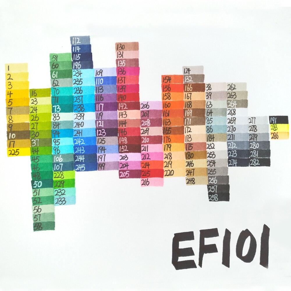 Finecolour marqueur de couleur croquis 160 couleurs ensemble complet Architecture marqueurs d'art à base d'alcool marqueur Manga pour dessin