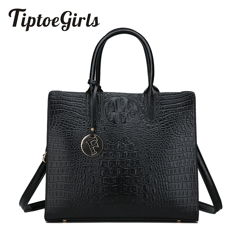 Crocodile Pattern Ladies Handbags New Fashion High Quality Middle-Aged Mother Bag Casual Wild Shoulder Messenger BagCrocodile Pattern Ladies Handbags New Fashion High Quality Middle-Aged Mother Bag Casual Wild Shoulder Messenger Bag