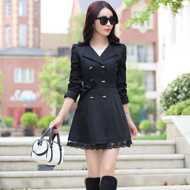 Plus Size Spring Autumn Trench Coat For Women Coat Female ...