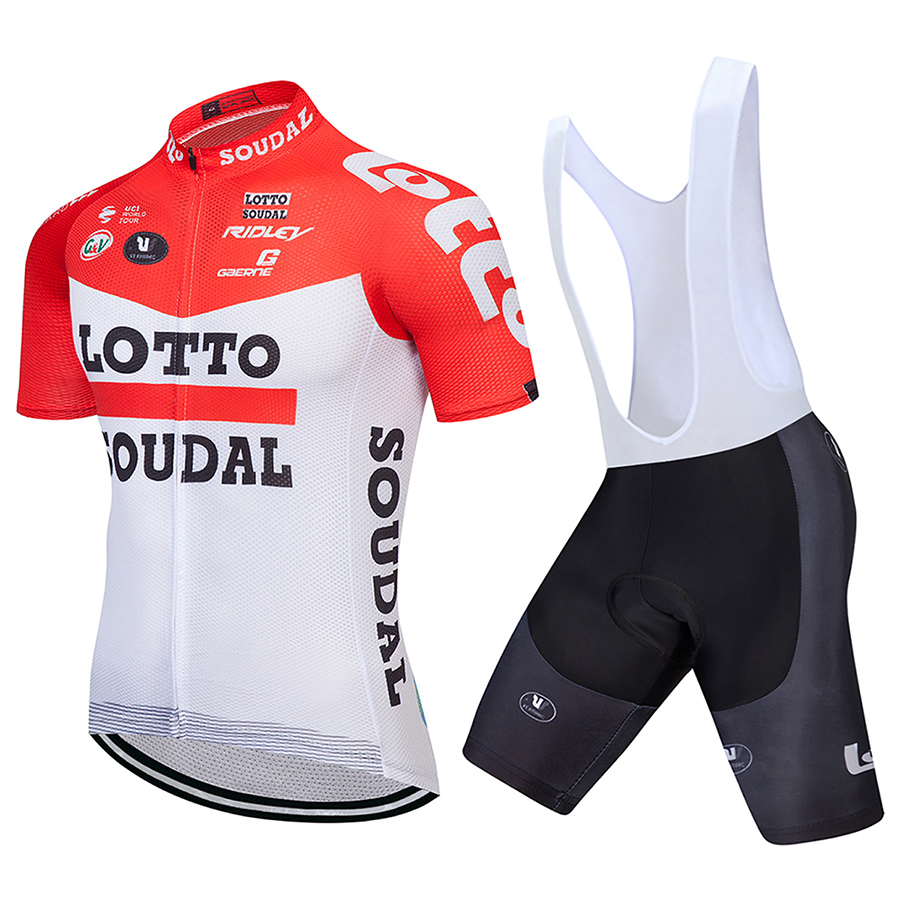 LOTTO 2018 Cycling Jersey Set Short Sleeve Summer MTB Cycling Clothing Pro Team Ropa Ciclismo Cycling Jersey And Shorts Gel Pad 2017pro team lotto soudal 7pcs full set cycling jersey short sleeve quickdry bike clothing mtb ropa ciclismo bicycle maillot gel