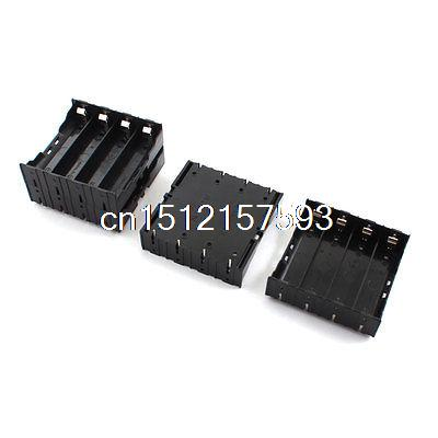 4Pcs 8-Pin Plug in Type Battery Holder Socket Case Box for 4 x 3.7V 18650