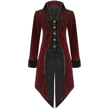 SHUJIN, Мужская винтажная Готическая длинная куртка, осенняя, Ретро стиль, крутая форма, костюм, Тренч, пальто, стимпанк, фрак, на пуговицах, пальто для мужчин