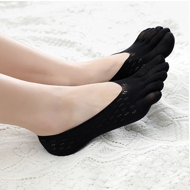 <+>  Creative Funny Yoga 5 Toe Носки Тапочки женские Противоскользящие Дышащие Calcetines Тренажерный Зал ①