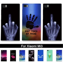 Soft TPU Case For Xiaomi 3 Mi 3 MI3 M3 Silicone Back Phone Cover Case for XIAOMI MI 3 M 3 Printing Painted 3D Relief Shells Bags