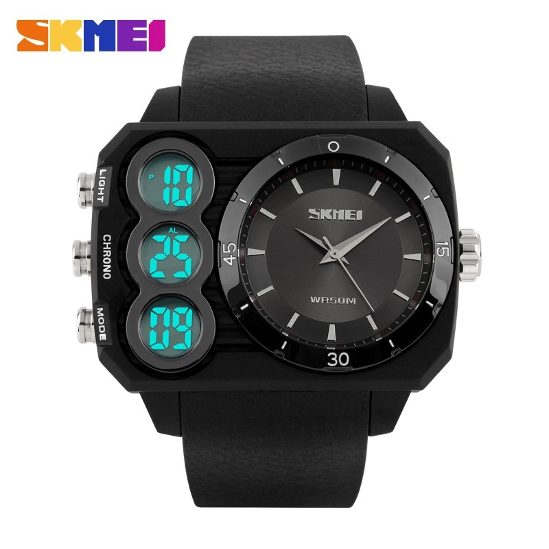 SKMEI Relojes Brand New Sports Watches Men Digital Quartz Watch Fashion Casual Mens LED Military Wristwatches Relogio Masculino brand weide sports watch for men mens military watches led black genuine leather strap analog digital relogio masculino relojes