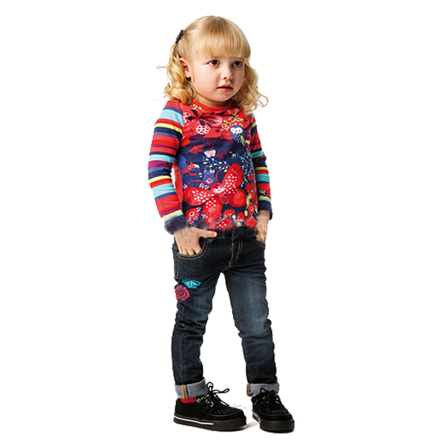 Children T shirts Long Sleeve 2017 Spring Brand Kids Tshirt for Girls Clothes Meninas Vestir Animal Print Baby Girls Top&Tees