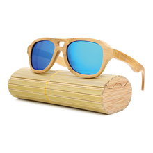 BARCUR Full Bamboo Sunglasses Men Sunglasses Aviator Brand Polarized Sun glass for Men Retro Fishing Eyewear Accessories