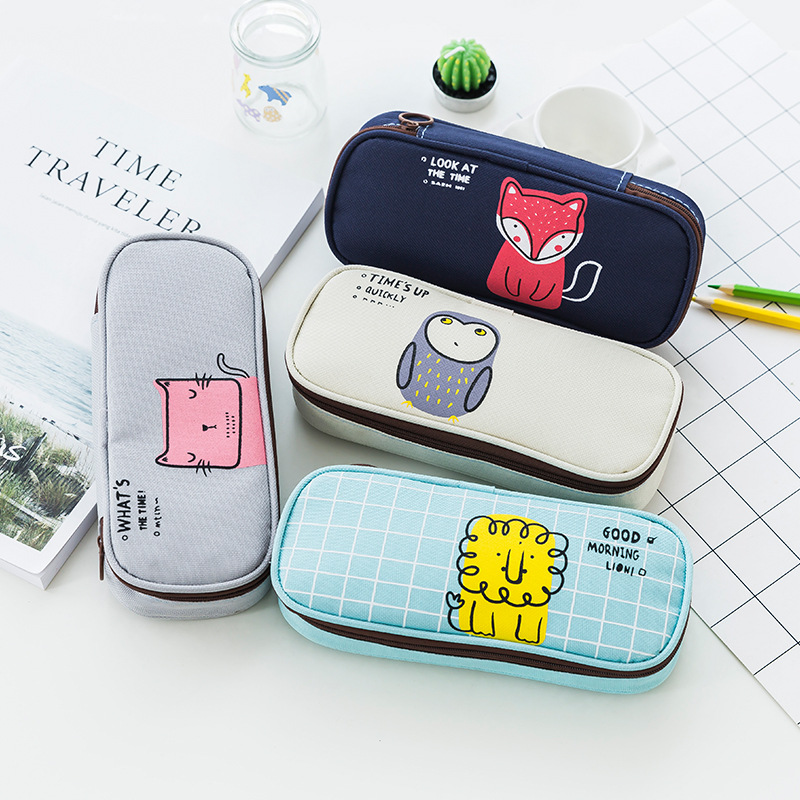 New Arrival Cute Cartoon Pencil Case Student Pencil Bag School Supplies Bts Stationery Pen Box For Boys And Girls Gifts