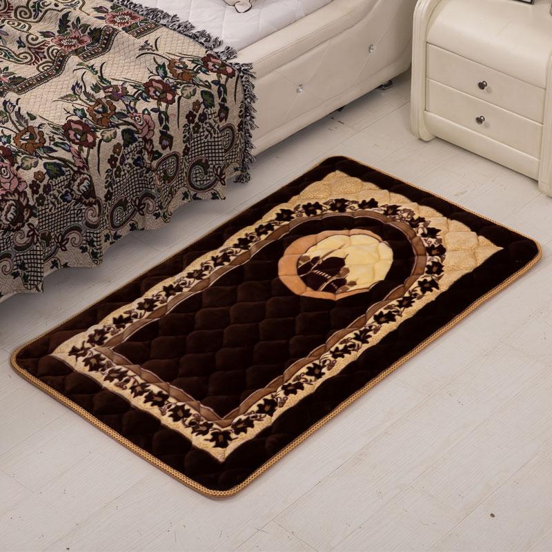 75x120 cm tapis de prière musulman tapis de jardin en plein air pèlerinage grands tapis pour salon maison salon chambre chevet Rectangle tapis