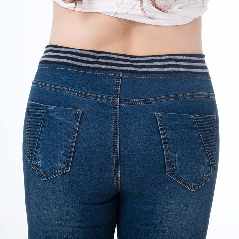 Ladies Jeans Push up High Waist Denim Women Plus Size Jean Woman Vaqueros Mujer Femme Elastic Stretch 5XL 6XL Pencil Trousers