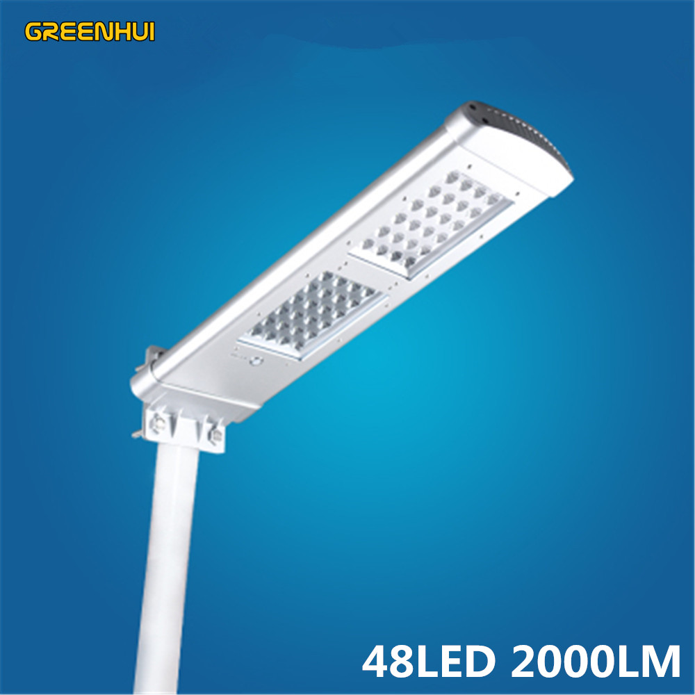 Aluminium Alloy 48LED 2000LM Integrated Solar Led Street Lights Garden Decoration Lamps Outdoor Yard Gate Solar Wall Light
