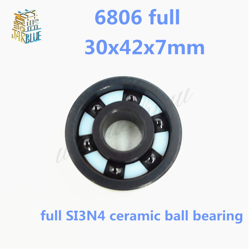 Free shipping 6806 full SI3N4 ceramic deep groove ball bearing 30x42x7mm 61806 full complement 6806RS цена и фото