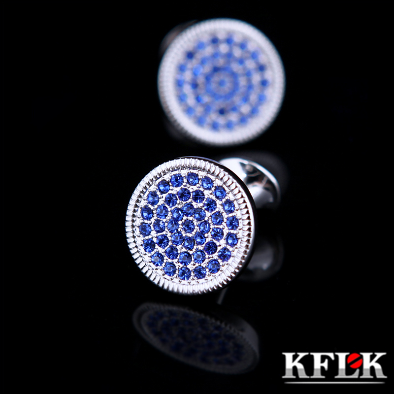 Kflk Jewelry Round Shirt Cufflinks For Men Gift Brand Cuff Button - Fashion Jewelry - Photo 1