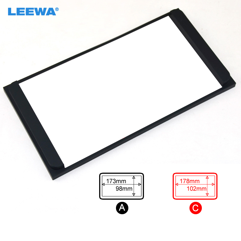LEEWA For Toyota Double Din Stereo Panel Fascia Radio DVD Dash Mount Trim Kit Refit From 200*100mm #CA2295 image