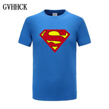 Envío gratis de camisetas de Superman/Batman/spider man/captain America/Hulk/Iron Man/camisetas de fitness para hombres(China)