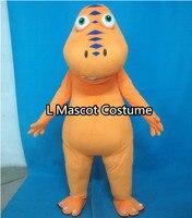 Adulte dinosaure costume de mascotte Halloween De Noël Train dragon joue costume de mascotte livraison gratuite