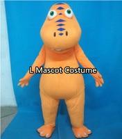 Dinosauro adulto costume della mascotte di Halloween Di Natale Treno drago gioca costume della mascotte spedizione gratuita