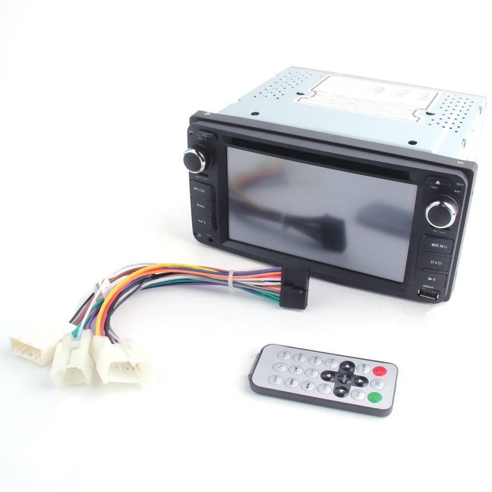 6.2 pouces Double Din In-Dash numérique médias DVD voiture affichage 7 couleur bouton lumière LED réglage pour Toyota