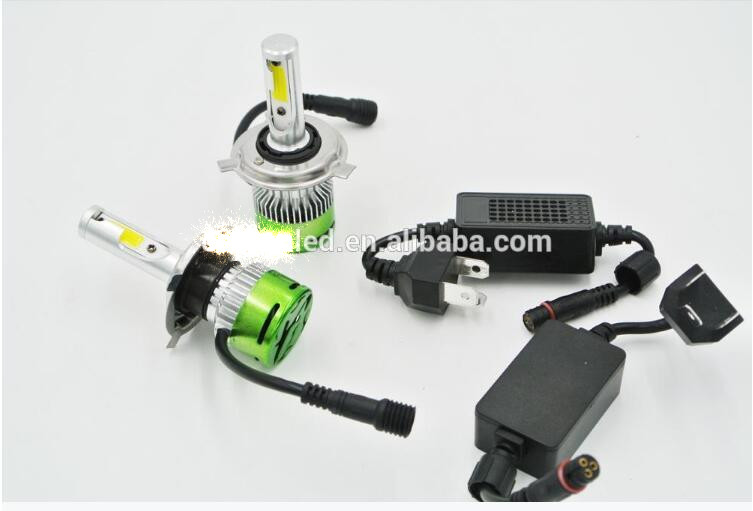 All In One H14 H7 bulb Car LED Headlights Fog Light Auto Headlights Super Bright COB LED Headlight Bulbs Conversion Kit bulb