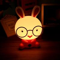 Desk Night Lights Baby Room Rabbit Cartoon Night Light Kids Bed Lamp Sleeping Night Lamp Table