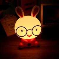 Desk Night Lights Baby Room Rabbit Cartoon Night Light Kids Bed Lamp Sleeping Night Lamp Table
