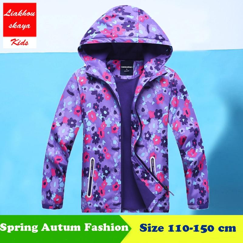 Liakhouskaya 2018 Children's Winter Jacket For Girls Casual Windbreaker Kids Outerwear & Coats Hoodies Double-Deck Waterproof