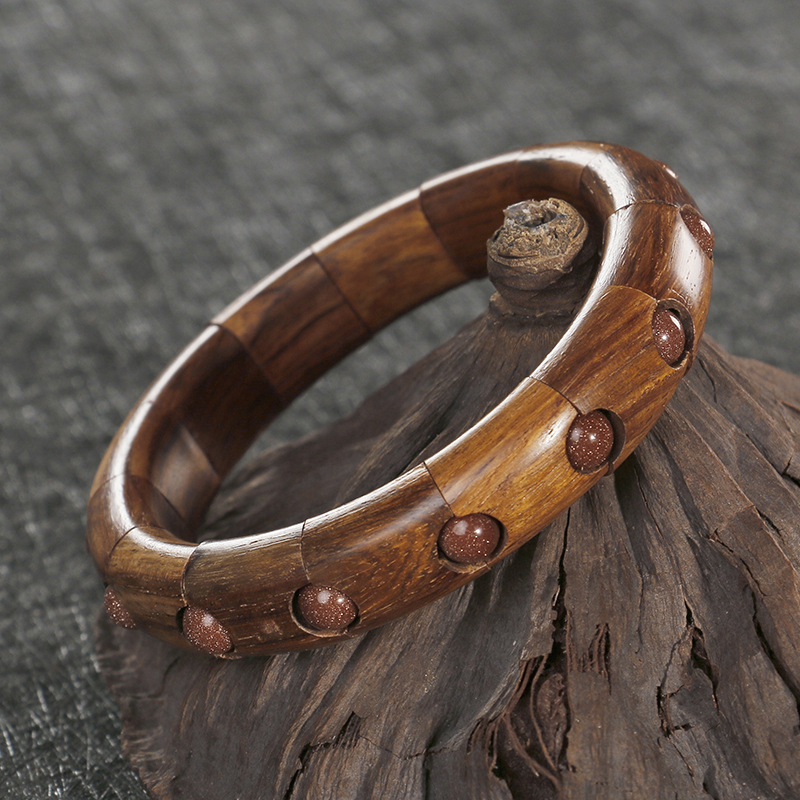 LKO New arrive Wood contains beads elegant bracelet made by scentedrosewood for man and women best gift free shipping
