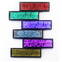 NEW LED Name Badge With Magnet And Pin Scrolling Display Message Sign 44x11 Dots Rechargeable Led