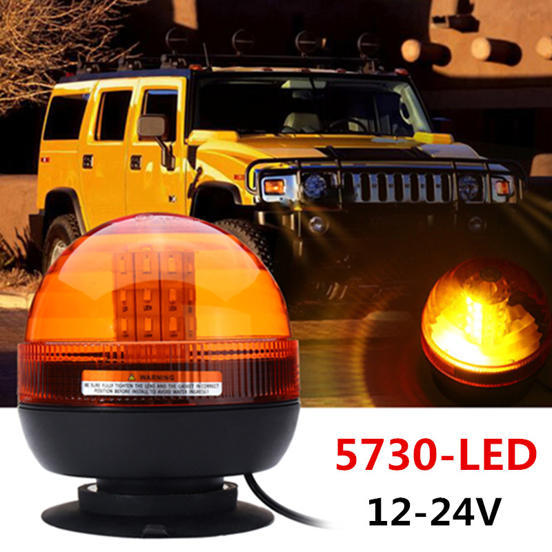 все цены на 8W 5730 40 LED Emergency Vehicle Flash Stobe Rotating Beacon Warning Light Roadway Safety Traffic Light онлайн
