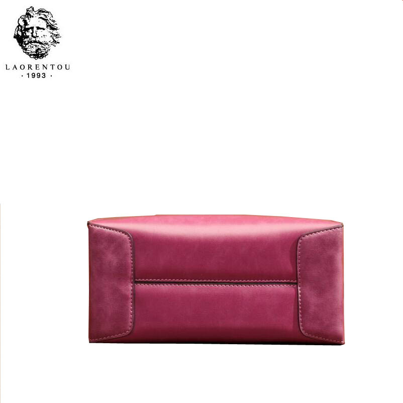 Vintage Nouvelle Messenger En pink Carré brown Et Sac Cuir Petit Purple Simple Élégant Mobile Lady black 2018 Laorentou R5Uq77