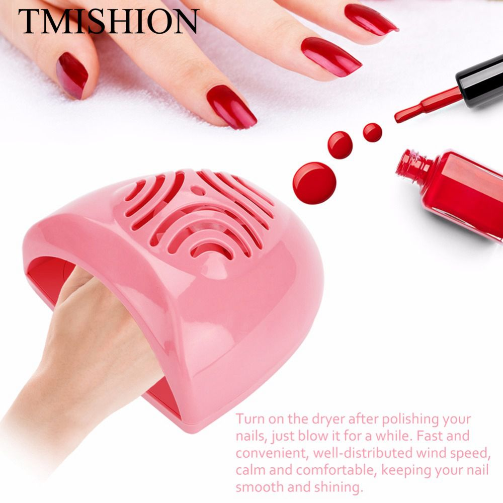 TMISHION Portable Nail Dryer Fan Mini Nail Art Drying Tools Finger Toe Nail Polish Air Dryer Blower For Manicure Pedicure Tool