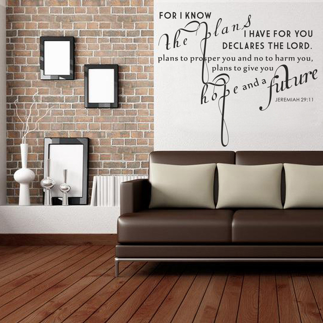 Jeremiah 29 11 Wall Art for i know the plans i have for you. jeremiah 29:11 vinyl wall