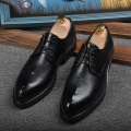 New Arrival Black Dress Shoes Round Toe Lace Up Business leisure Leather Shoes Embossed Office Shoes For Man Size 38-44 Zapatos